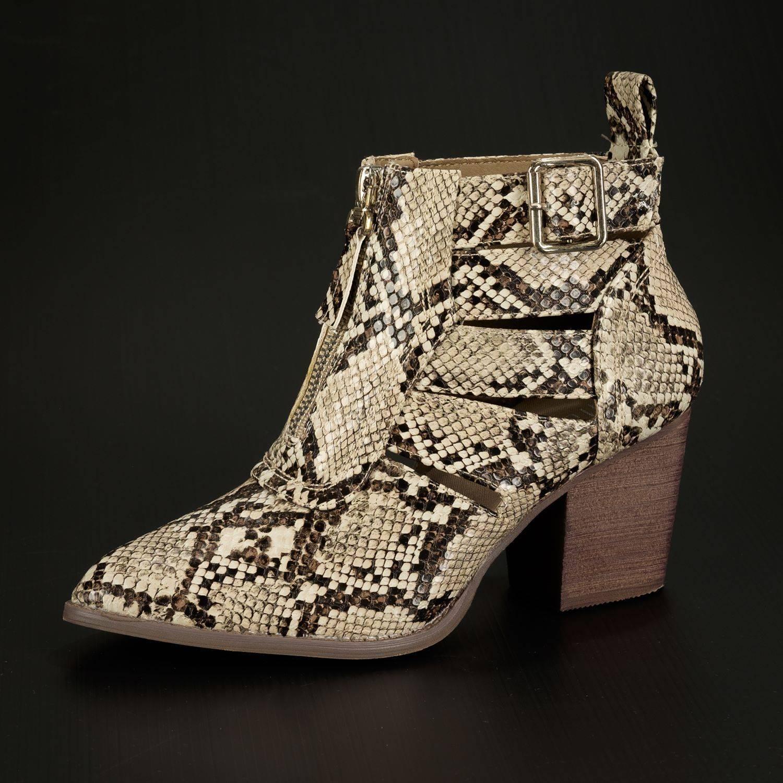 Annick Fashion | BOTJE SNAKEPRINT BEIGE