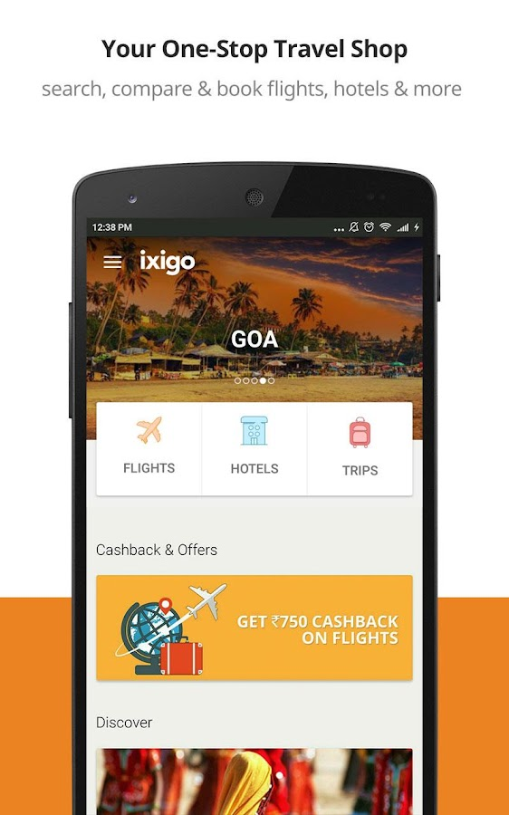 Ixigo flights app android