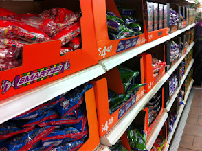 Photo: I looked for a few more supplies for the party while I was shopping. Candy....yes!
