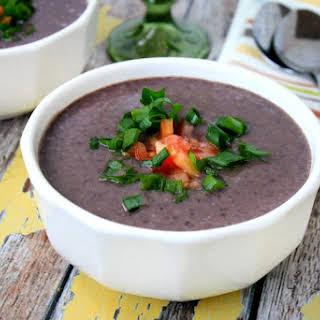 Vegan Black Bean Soup (Vegan, Gluten-Free, Dairy-Free).
