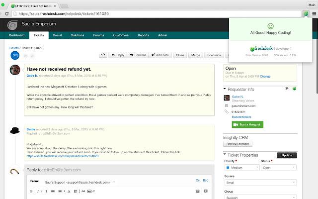 Freshdesk Developer Extension