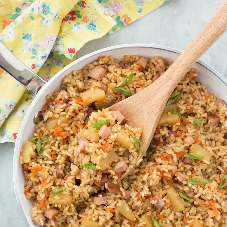 20 Minute Ham and Pineapple Rice Recipe