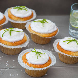 Gluten Free Coconut Lime Cupcakes.