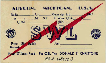 Photo: 1941 Old SWL QSL Card from Don Christensen who would later become W8WOJ