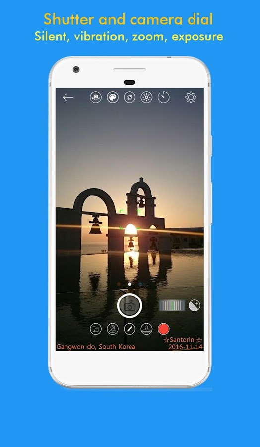 SnapTime - Silent, Stamp, Square Camera- screenshot