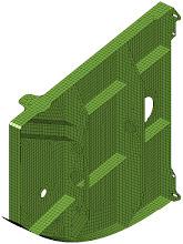 Photo: Example Model: After repairing (midsurfacing and closing free edges) and meshing.