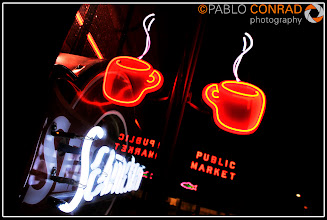 Photo: © Paul Conrad/Pablo Conrad Photography Seattle's Best Coffee sign lights the night at Pike Place Market in downtown Seattle, Wash., on Tuesday evening Jan. 4, 2011.