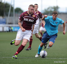 Photo: Stenhousemuir fc v Dunfermline fc, Scottish League 1, Ochilview , 24-08-13Kevin McKinlay and Craig Dargo(c) David Wardle