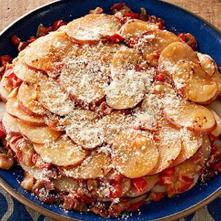 Skillet Parmesan Potatoes.