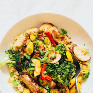 Maple Miso Roasted Vegetable + Quinoa Bowl