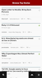 HNZ — A Hacker News Reader- screenshot thumbnail