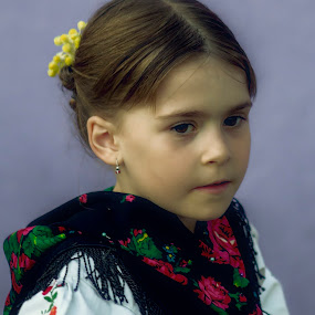 Portrait of a girl from Slavonia, Croatia by Toma Regoč - Babies & Children Children Candids ( portrait, girl, costumes, people, colors )