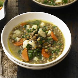 Spinach and Lentil Soup.