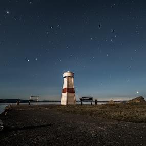 Small light house, big world by Kjell Kasin - Landscapes Starscapes ( samyang, sweden, stars, light house, nikon, arvika )