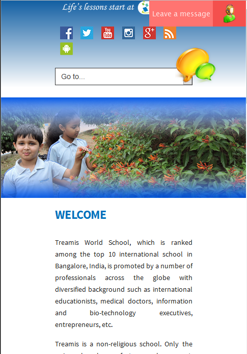 Treamis World School Mobile- screenshot