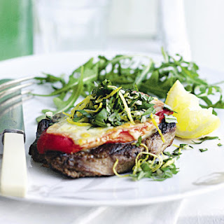 Lamb, Mozzarella and Gremolata Stacks