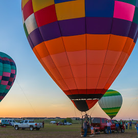 Apache Balloon Fest by Kathy Suttles - Artistic Objects Other Objects ( apache casino balloon fest, morning prep, hot air balloons, lawton, oklahoma, suttleimpressions,  )
