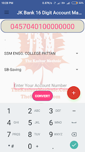 JK Bank 16 Digit Account Maker - náhled