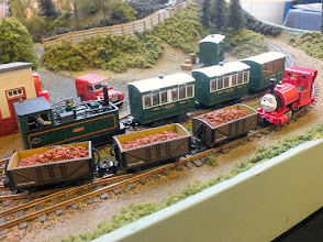 Photo: 009 Ready to Run 009 has arrived! Every item of stock here is straight out of the box ready to run from Peco, (wagons and coaches), Bachmann USA (Skarloey loco) and Fourdees (Glyn Valley loco). The future of small scale narrow gauge modelling is looking bright indeed .