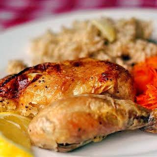 Lemon Garlic Roast Chicken.