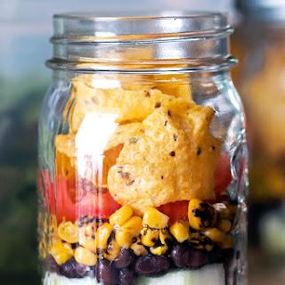 Southwest Mason Jar Salad with Creamy Avocado Dressing