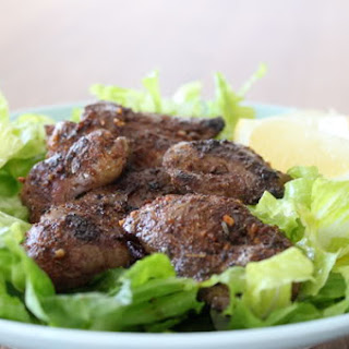 Cajun Blackened Chicken Livers with Lemon and Garlic