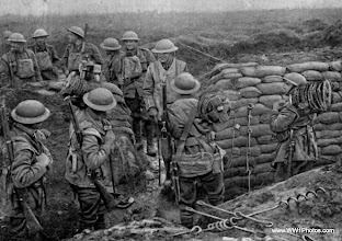 Photo: A Wiring Party On The Western Front