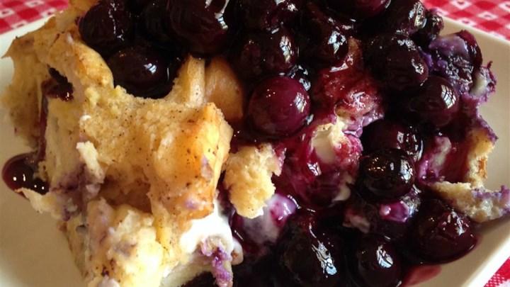 Overnight Blueberry French Toast Casserole Recipe