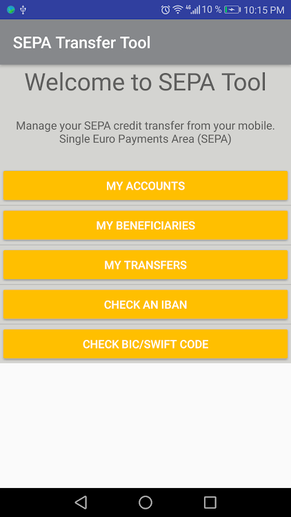 SEPA Transfer File – (Android Applications) — AppAgg