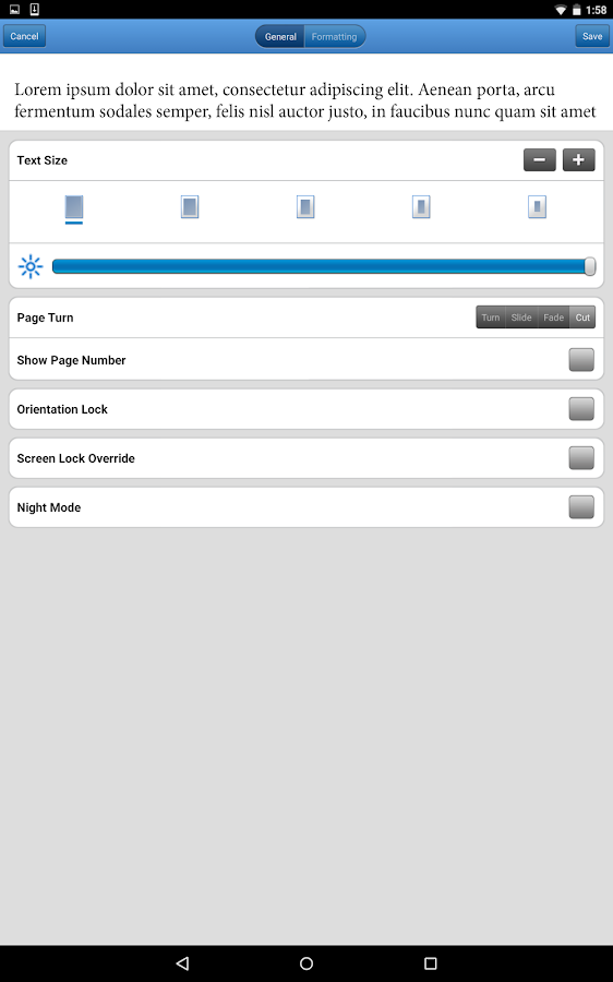 Bluefire Reader - screenshot