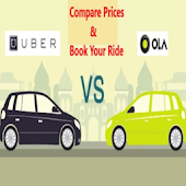 BOOK OLA & UBER CAB WITH PRICE COMPARISON