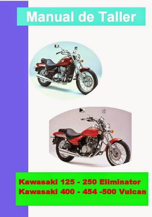 kawasaki el 125 eliminator manual-taller-servicio-despiece