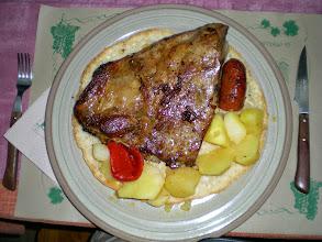 Photo: Etapa 21. Costilla de cerdo asada. La Taberna de Gaia. Foncebadón