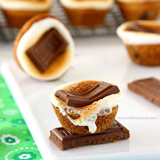 Smores Chocolate Chip Cookie Cups