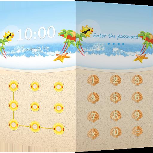 Applock Theme Beach 程式庫與試用程式 App LOGO-APP開箱王
