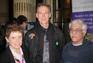 Photo: Guests meet Peter Tatchell