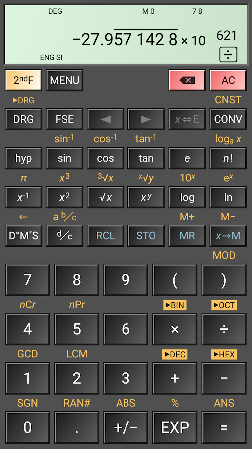 HiPER Scientific Calculator- screenshot