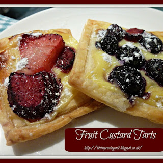 Fruit Custard Tarts.