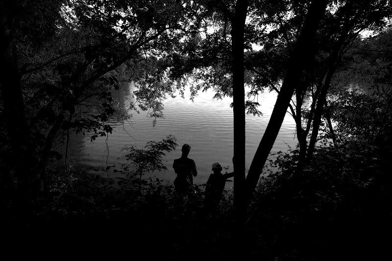 Pescatore al lago di bonimatteo