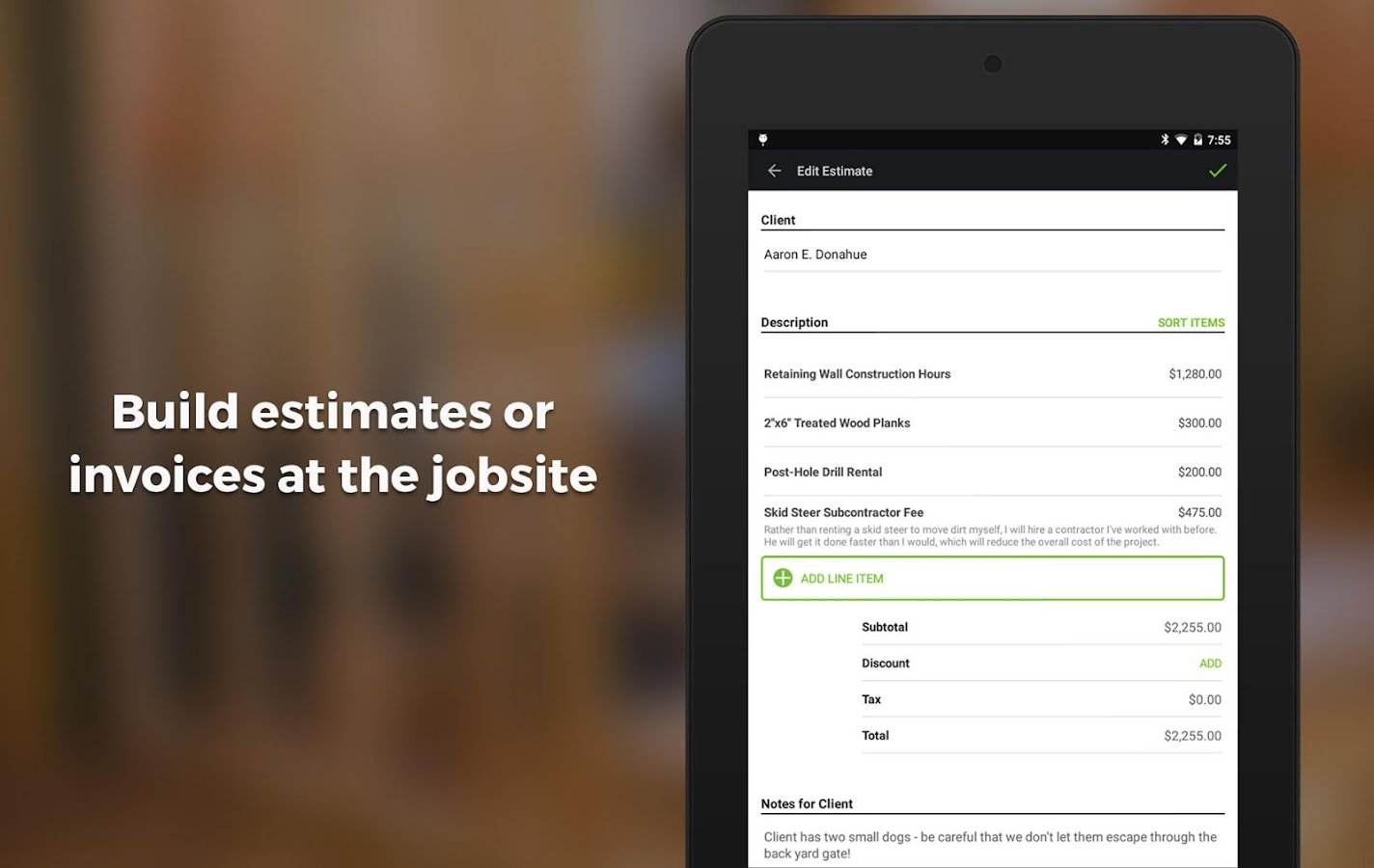 contractor estimate invoice android apps on google play contractor estimate invoice screenshot