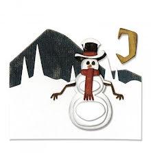 Tim Holtz Sizzix Thinlits Dies 10/Pkg - Snowman Scene