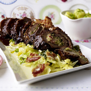 Braised Beef Roulade with Creamed Cabbage