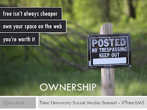 Photo: OWNERSHIP - Stake out your corner of the web and own it. It's important because it is about you, and you're worth it. Don't rely solely on services that can be gone tomorrow.