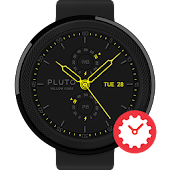 Yellow Code watchface by Pluto