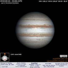 Photo: Last Jupiter before the spring pollen break!  Shot in fair to poor conditions.