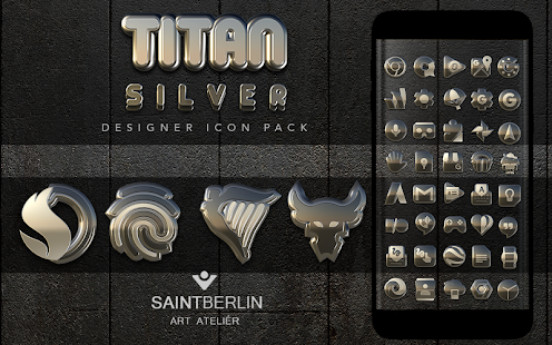 Titan Silver Icon Pack Screenshot
