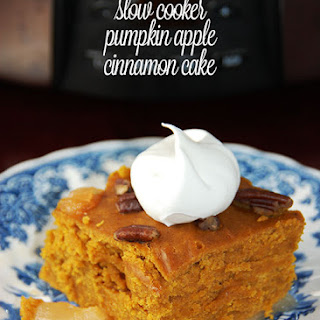 Slow Cooker Pumpkin Apple-Cinnamon Cake.