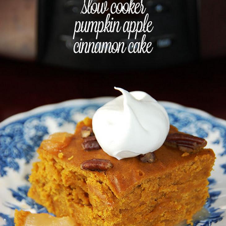 Slow Cooker Pumpkin Apple-Cinnamon Cake Recipe