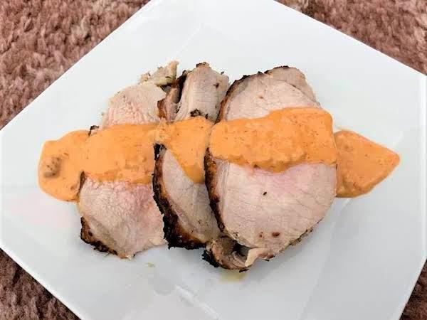 Horseradish Crust Pork Tenderloin W Comeback Sauce