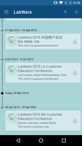 LabWare Meetings Events